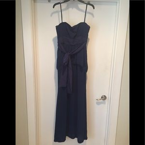 BCBGMaxazria Two Tier Strapless Formal Dress W Tie